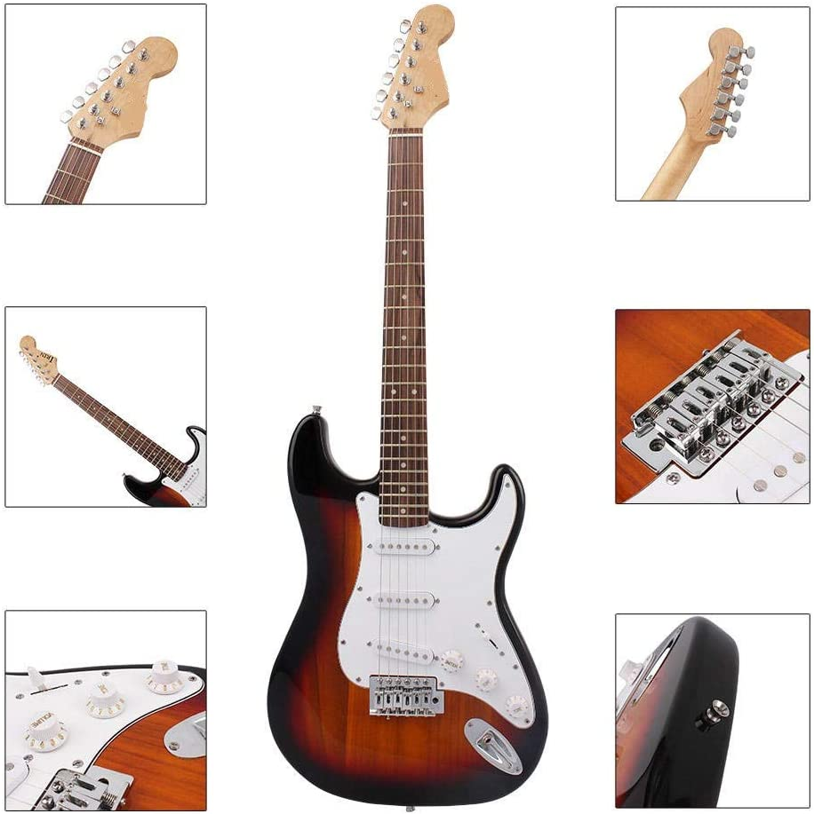 WH-IOE Acústica Guitarra Principiantes 38 Pulgadas de 6 Cuerdas de Guitarra eléctrica con la Guitarra Bolsa/Cuerdas/balancín/Llave/Selecciones/Correa/Cable Opcionales para princ