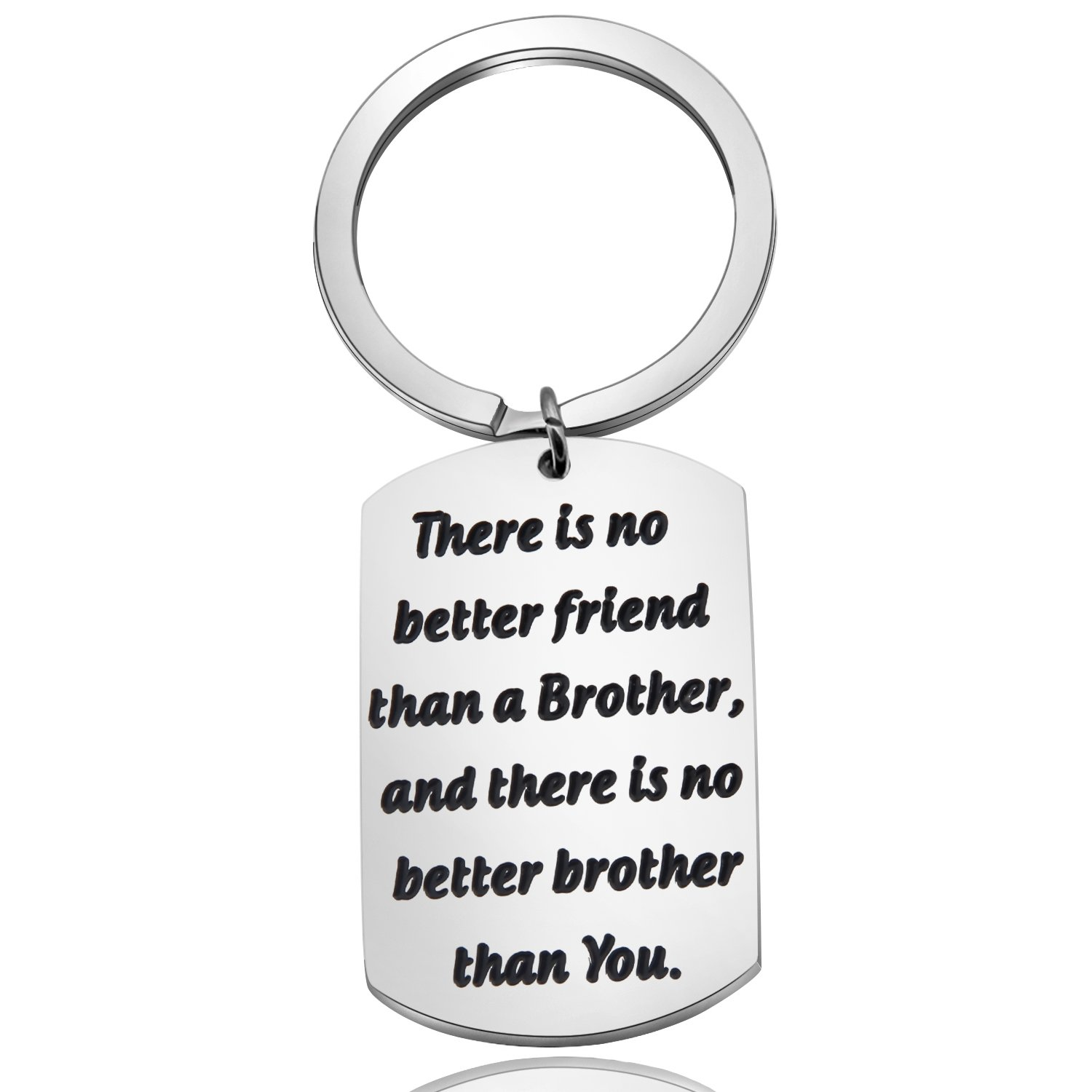 Zuo Bao Brother Gifts Brother keychain There is no better friend than a brother Gift for Friend Family Jewelry (Keyring)