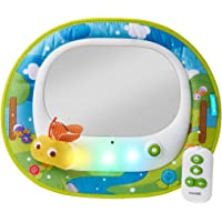 Brica by Munchkin Baby In-Sight Firefly Car Mirror, 4 entertaining tunes and soothing melodies, synced with Firefly and LED light show, Auto Battery Shut Off