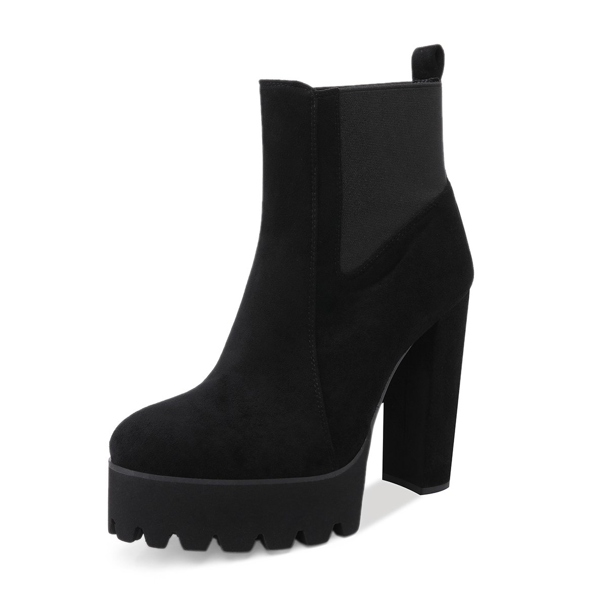 d8bbd1ad9 Amazon.com | Onlymaker Women's Comfy Elastic Platform Boots Round Toe Chunky  High Heel Pull on Ankle Booties | Ankle & Bootie