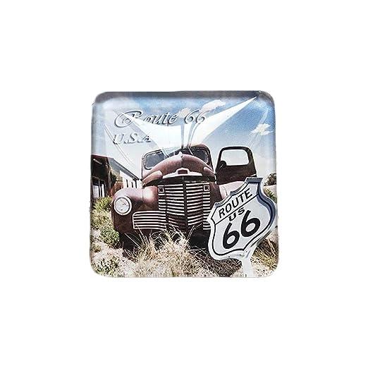 3D EE. UU. Route 66 Refrigerador Imán de Nevera Cristal de Cristal ...