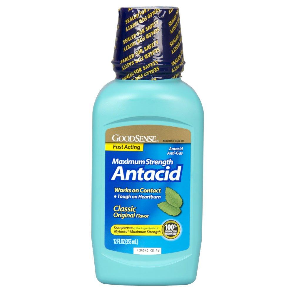 Amazon.com: GoodSense Maximum Strength Antacid, 12 Fluid Ounce: Health & Personal Care
