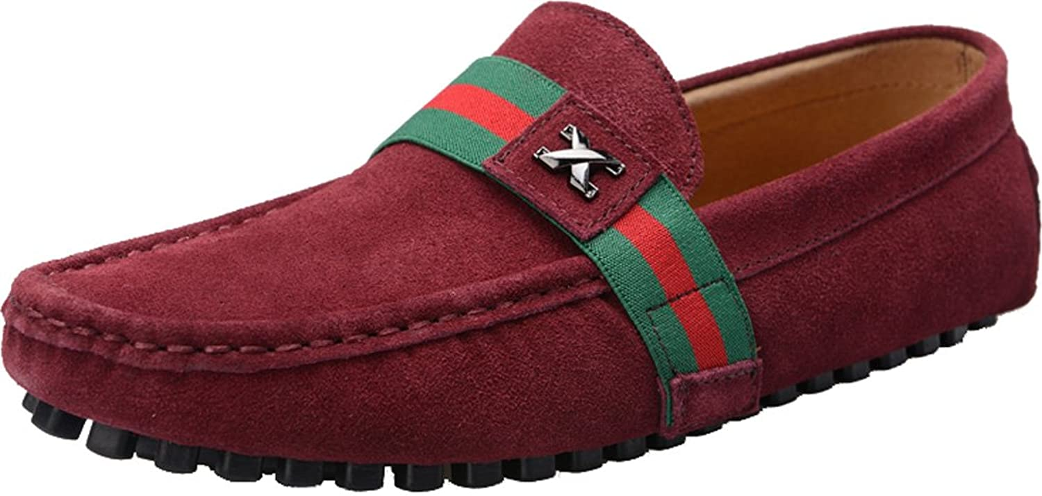Abby Mens QZ-0028 Fashion Comfort Cozy Cosiness Message Driving Flat Leather Doug Shoes