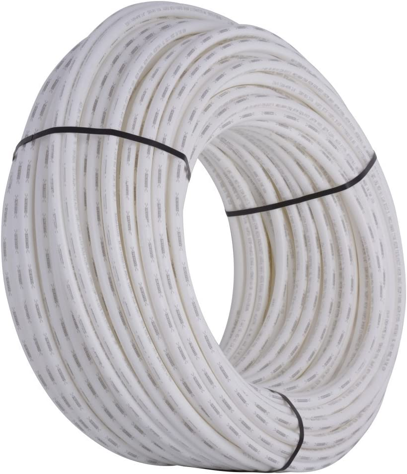"SharkBite PEX Pipe 3/4"", White, Flexible Water Pipe Tubing, Potable Water, Push-to-Connect Plumbing Fittings, 500' Coil"