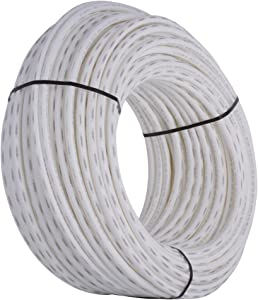 """SharkBite PEX Pipe 3/4"""", White, Flexible Water Pipe Tubing, Potable Water, Push-to-Connect Plumbing Fittings, 500' Coil"""