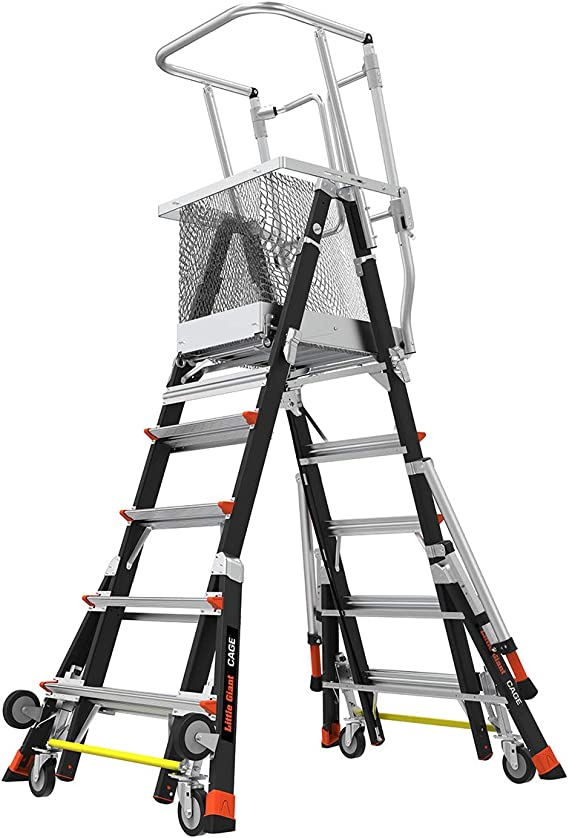 Poco gigante escalera sistemas 18509 – 240 antena seguridad jaula Fibra de vidrio, 5 9