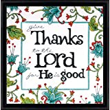 Tobin Heartfelt Give Thanks Counted Cross Stitch Kit, 10 by 10-Inch, 14 Count