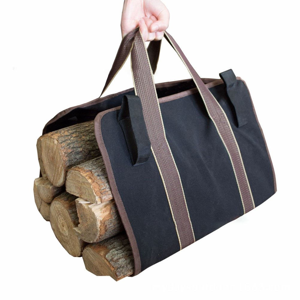Firewood Tote Log Tote Bag Carrier Canvas Indoor Fireplace Best for Outdoor Fireplaces Wood Stoves, 36in x 16in