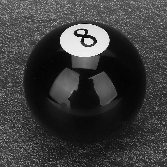 Qii lu Perilla de cambio de marchas, negro universal 8 Bola de ...
