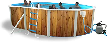 TOI - Piscina desmontable ovalada decorada modelo veta + kit de ...