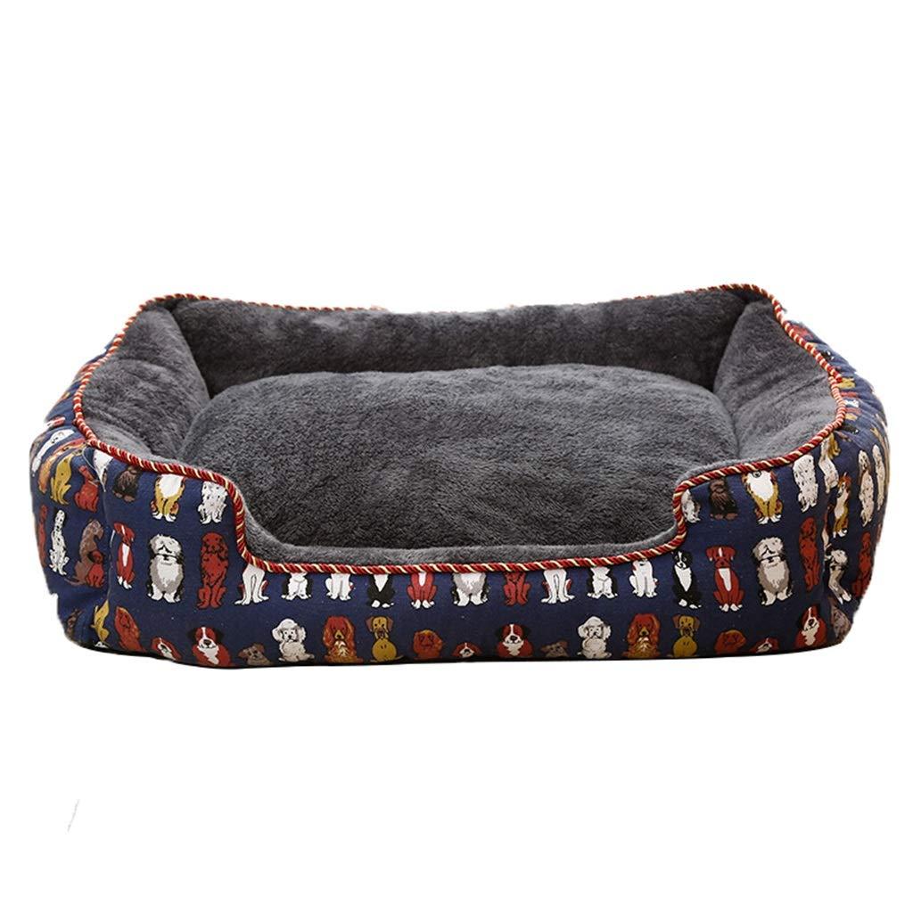 B 404018cm B 404018cm QUD Medium-sized dog small dog kennel, warm pet mattress Teddy Bomeibi Xiong Keji pet mat kennel (color   B, Size   40  40  18cm)