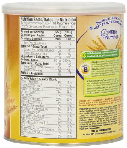 Nestle Nestum Cereal Wheat And Honey 10 5 Ounce