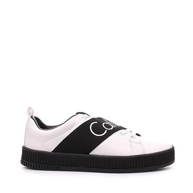 Scarpe Uomo Primavera Sneakers Calvin S0500 Milton Klein Bianche 6XW7q