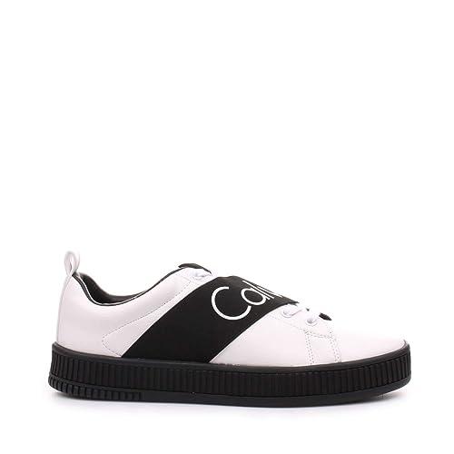 09ef8b5bf1bfaa Calvin Klein Uomo Sneakers Bianche S0500 Scarpe Milton Primavera Estate  2018, 45 EU