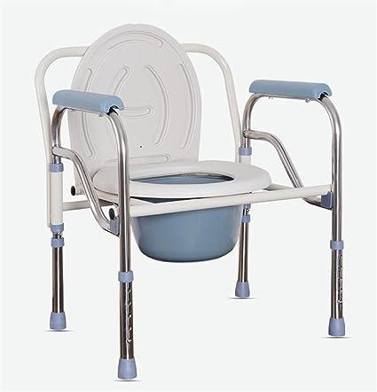 Guoyajf silla de ducha con ruedas, silla de Toilette y asiento de baño acolchado,