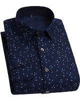 MEXICAN 稻草人 格纹加绒衬衫男长袖衬衣 休闲衬衫 男士上衣 加厚修身衬衣男衬衫 时尚打底衫