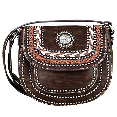 MW340-8360 Montana West Concho Collection Crossbody Saddle - Concho Collection