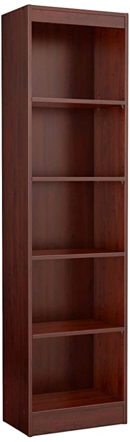 Superb South Shore Axess Collection 5 Shelf Narrow Bookcase, Royal Cherry