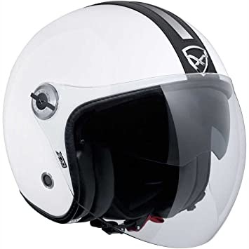 Motocicleta Nexx X70 – Casco Jet, color blanco negro UK