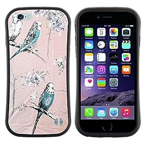 "Pulsar iFace Series Tpu silicona Carcasa Funda Case para Apple (4.7 inches!!!) iPhone 6 Plus / 6S Plus ( 5.5 ) , Loro Árboles rosa del trullo de Spring Branch"""