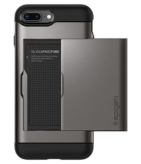reputable site 478af bb0c2 Spigen Slim Armor CS Designed for Apple iPhone 8 Plus Case (2017) /  Designed for iPhone 7 Plus Case (2016) - Gunmetal