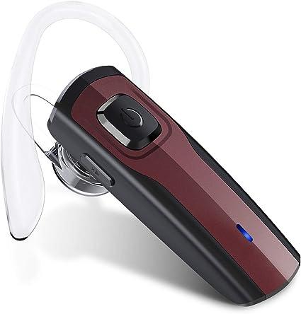 Auriculares Inalámbricos Auricular Bluetooth Manos Libres Bluetooth Auriculares Mono Headset con micrófono para negocios/trukers/conductor par con Android iPhone (SEED_headset): Amazon.es: Instrumentos musicales