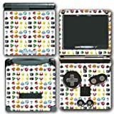 New Mario Bros Kart Weapons Power-ups Mushroom Shell Star Video Game Vinyl Decal Skin Sticker Cover for Nintendo GBA SP Gameboy Advance System