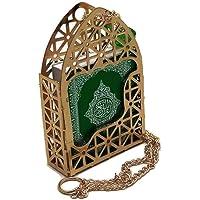 Islamic Car Rear Mirror Hanging Decorative Ornament Vehecle Necklace AMN142 Mini Al-Quran in Gold Color Cage Pendant…