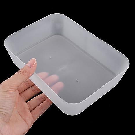 Amazon.com : eDealMax Familia Rectangular de plástico cosmético de escritorio organizador de escritorio de almacenamiento de la caja Blanca : Office ...