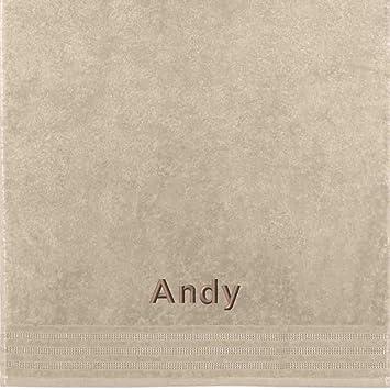 Erwin Müller Toalla con nombres Andy bordado, arena, 50 x 100 cm: Erwin Müller: Amazon.es: Hogar