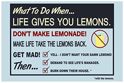 Inephos When Life Gives You Lemons Funny Poster 12 X 18 Inch
