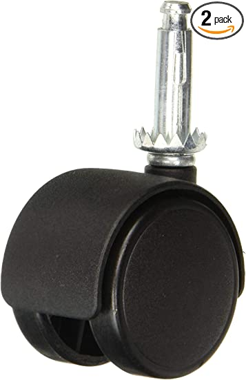 Softtouch 4326595n Plastic Stem Mount Twin Caster Wheel 1 3 4 Black Home Improvement