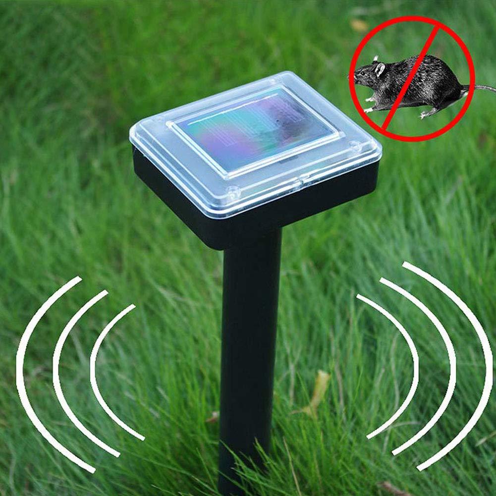 WE-WIN Solar Powered Mole Repelente ultras/ónico de Control de plagas Rodent Pest Gopher Repelente para c/ésped al Aire Libre jard/ín Yardas