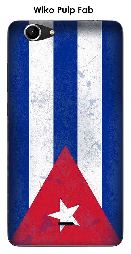 Onozo Carcasa Wiko Pulp Fab Design bandera Cuba Vintage ...