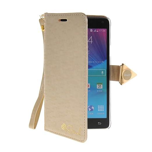 6 opinioni per MOONCASE Custodia in pelle Protettiva Cuoio Portafoglio Flip Cover per Samsung