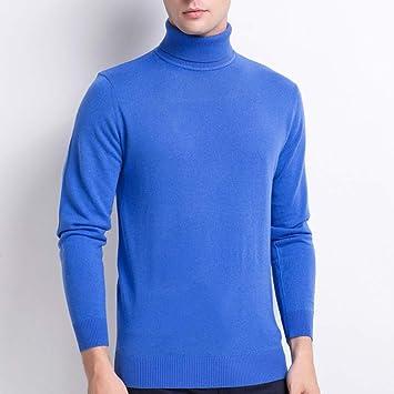 IYSI Suéter Hombre Jersey De Cuello Alto Camisa de Solapa ...
