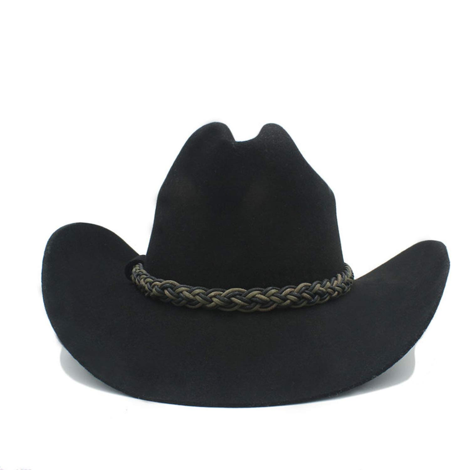 MingDe Sports 100/% Australia Wool Women Men Black Western Cowboy Hat Cowgirl Jazz Sombrero Cap