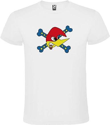 ROLY Camiseta Blanca con Logotipo de Loquillo Hombre 100% Algodón Tallas S M L XL XXL Mangas Cortas: Amazon.es: Ropa y accesorios
