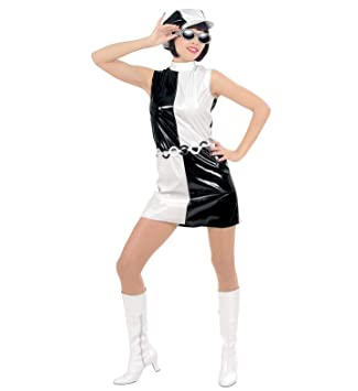 60s Black and White Geometric Dress (disfraz): Amazon.es: Juguetes ...