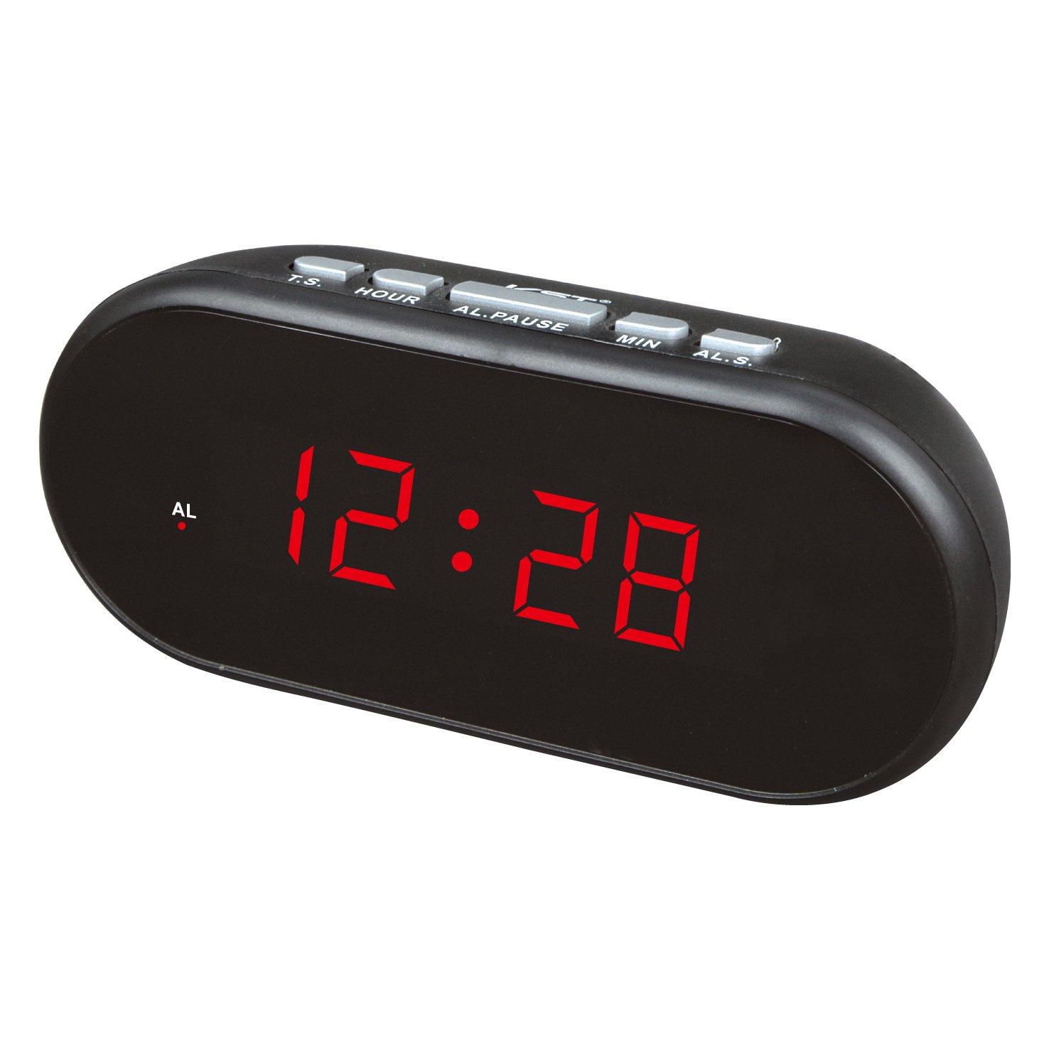 Hoteles acústico alarma de reloj despertador LED reloj ...