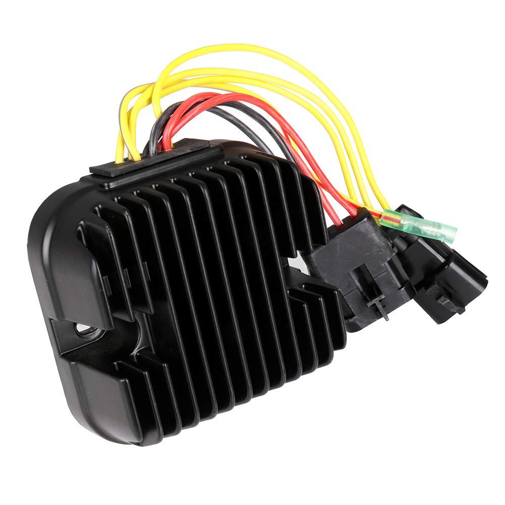 CCIYU 4011925 4012384 Voltage Regulator Rectifier Fit for 08-09 Polaris Ranger 500 07-09 Polaris Ranger 700 08-09 Polaris Sportsman 500 07-10 Polaris Sportsman 800