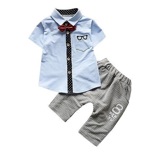 13e15ff5 Amazon.com: Newborn Toddler Baby Boy Glasses Tops Pants Tie Bowtie Onesie Outfit  Set: Clothing