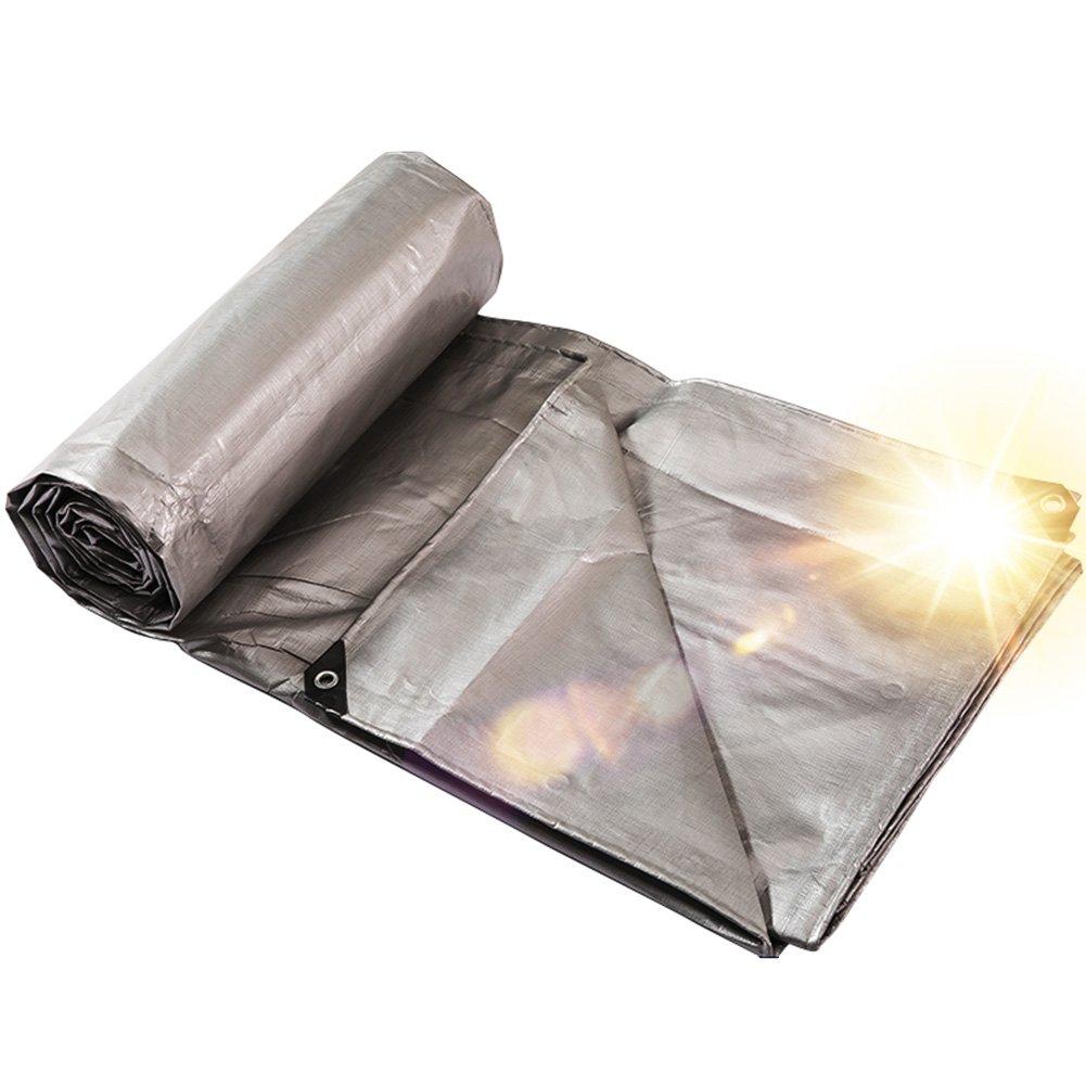 TLMYDD Verdickt Poncho Plane Plane Sonnenschutz Sonnencreme Dreirad Tuch Abdeckung Tuch Dreirad Plane Beschichtet Silber Poncho Plane (Farbe   Silber, größe   10x10m) d7816f