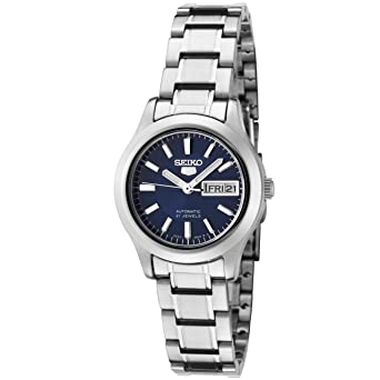 2dde79919 Image Unavailable. Image not available for. Color: Seiko Women's SYMD93K1 Seiko  5 Automatic Blue Dial Stainless Steel Watch