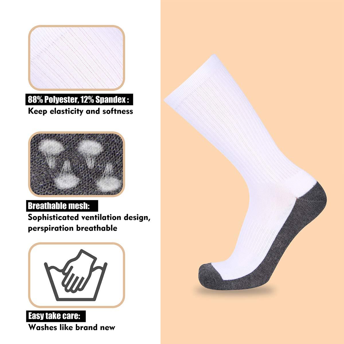 COOVAN Mens Athletic Cushion Crew Socks Men 3//6P-Pack Comfort Moisture Wicking Work Sock 10-13//Shoe Size 7-13