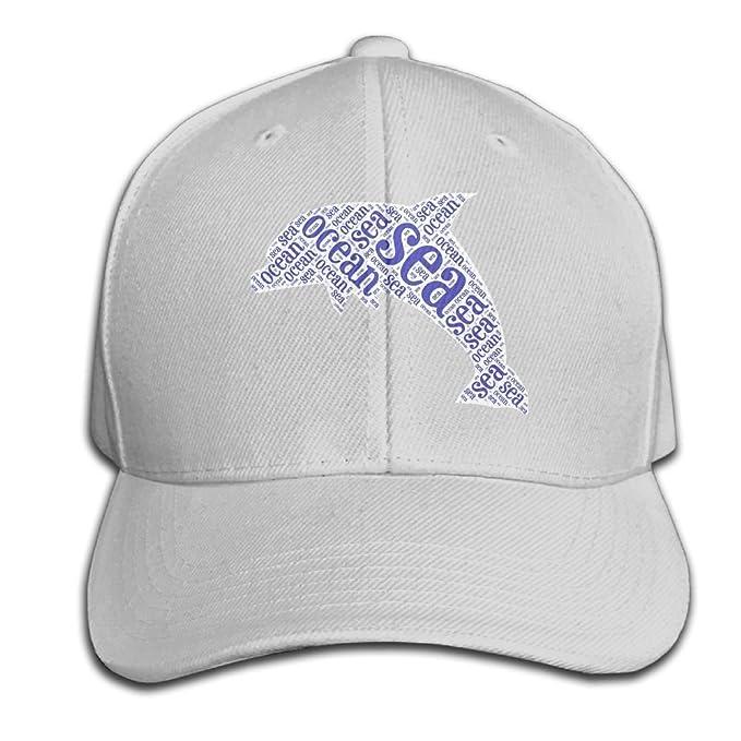 Eveler Unisex Peaked Cap Sea Ocean Dolphin Baseball Hip-hop Cap ... 9923e86e7d88
