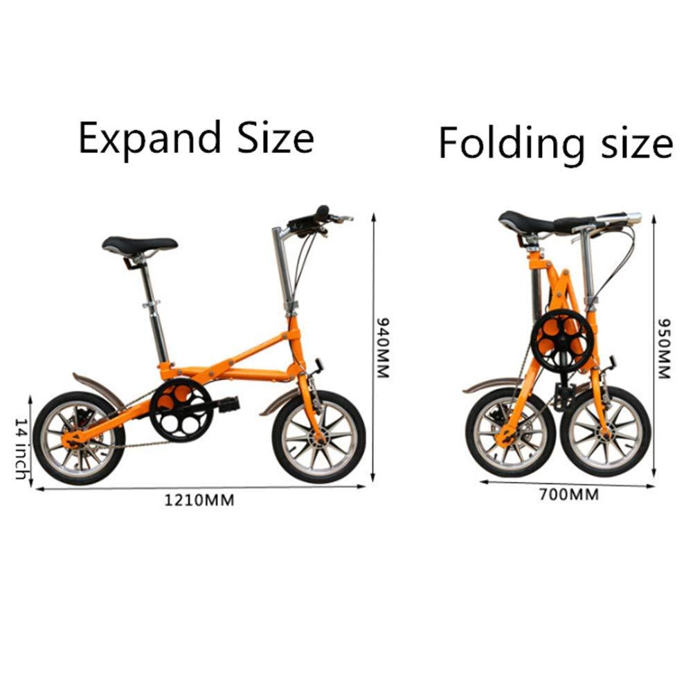 Bicicleta Plegable Ligera 14 Pulgadas, Bicicleta Plegable ...