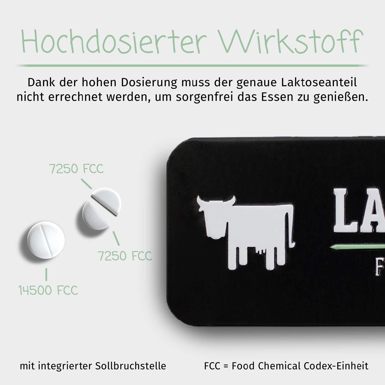 LactoJoy Pastillas de Lactasa | Tratamiento de Comprimidos para Intolerancia a la Lactosa | Digestión de la Leche, Queso | Capsulas de Enzimas ...