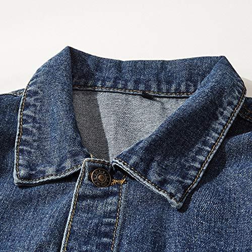 de Shukun Chaqueta del Estudiante de Chaqueta Hombres los XXL Vestido Jeans Joven Pareja la los Hombres Chaqueta de Hermosos wwpq01g