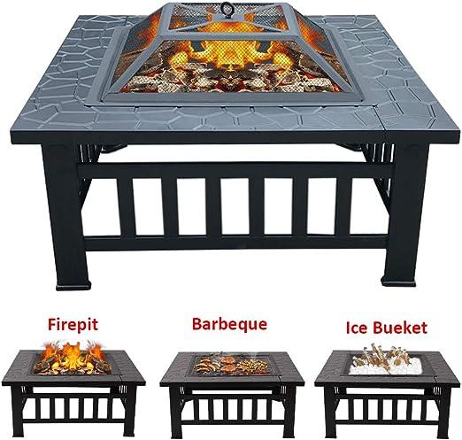 XEMQENER estufa para exteriores con parrilla para barbacoa para ...